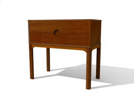 Living Room Console Table 3d model