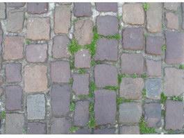 Ancient brick paving texture