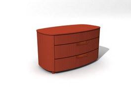TV bench cabinet 3d model