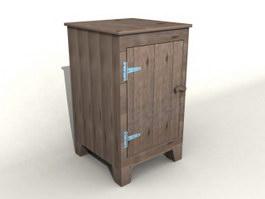Wooden Storage Cabinet 3d model