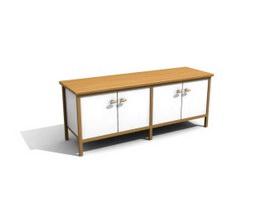Wooden kitchen cupboard 3d model