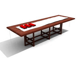 Luxury Dining table 3d model