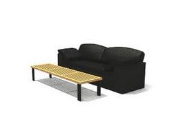 Meeting office sofa 3d model