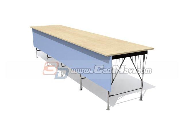 Fine Office Work Bench 3D Model Cadnav Evergreenethics Interior Chair Design Evergreenethicsorg