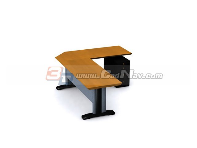 steel frame office computer desk 3d model free download inside 3ds