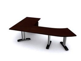 Office desk computer workstation 3d model