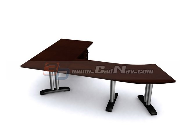 office desk computer workstation 3d model free download inside 3ds