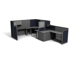 Office workstation Partition unit 3d model