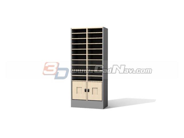 Office Magazine Rack Filing Cabinet 3D Model