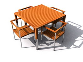 garden dining sets 3d model - Garden Furniture 3d