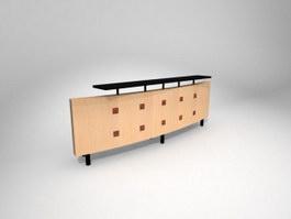 Club reception desk 3d model