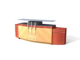 Beauty salon reception desk 3d model