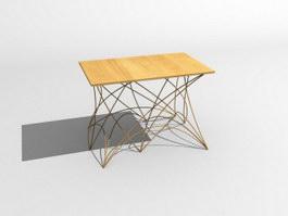 Coffe table wooden 3d model