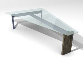 Space saving coffee table 3d model