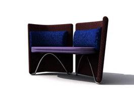Salon waiting chair 3d model