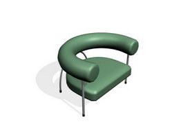 Bar sofa armchair 3d model