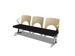 Hospital waiting chair 3d model