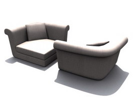Office waiting room sofa 3d model