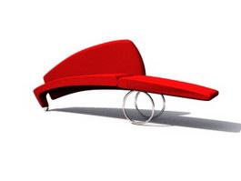 SPA Salon Waiting Chair 3d model