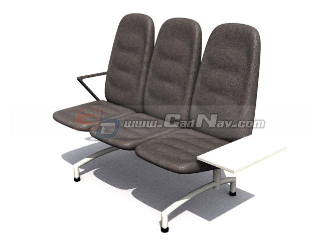 Public auditorium chair 3d model 3DMax,3Ds files free download