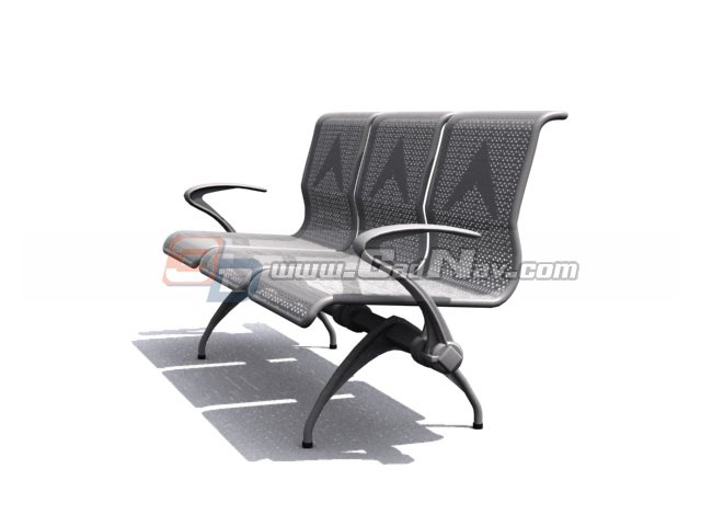 Stainless Steel Waiting Chair 3d Model 3dmax 3ds Files