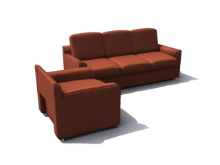 Office Conference Waiting Sofas 3d model