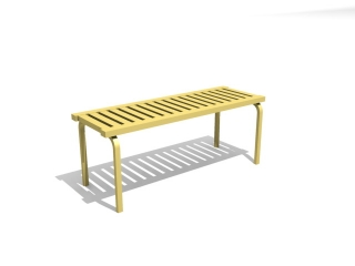 Park bench chair 3d model