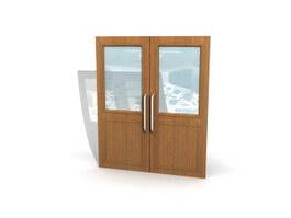 Meeting room sliding door 3d model