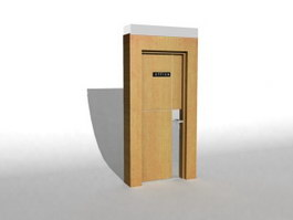 Office wood door 3d model
