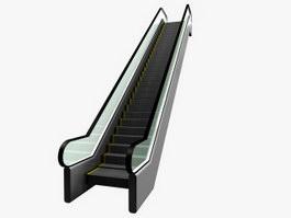 Supermarket escalator 3d model