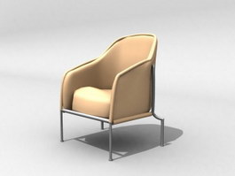 Soft couch armchair 3d model