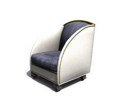 Hotel Furniture fabric armchair 3d model