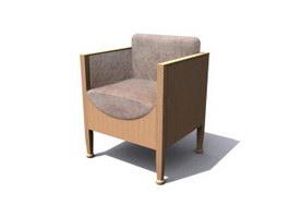 Upholstered seat 3d model