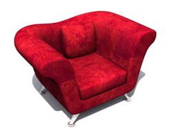 Soft queen sofas 3d model