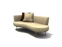 Chesterfield chaise lounge 3d model