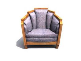 Queen antique chair 3d model