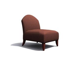Coffee shop cushion chair 3d model