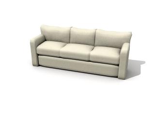 Folding sofa bed 3d model