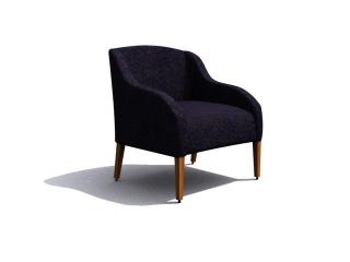 Fabric Hotel Sofa Chair 3d model