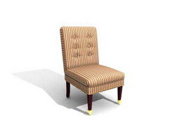 Sitting Room Fabric Leisure Chair 3d model