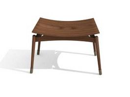 Wooden Footstool 3d model