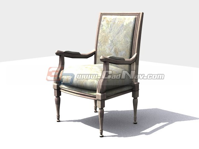 Antique Chair European Style 3d - 30.6KB