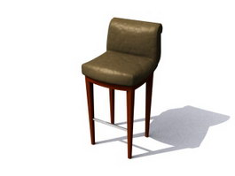 Brilliant Bar Stools 3D Model Free Download Page 5 Cadnav Com Machost Co Dining Chair Design Ideas Machostcouk