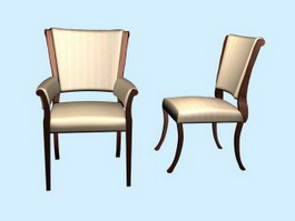 Home Leisure Chair Dining Chairs 3d model