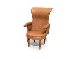 Home Leisure Leather ArmChair 3d model