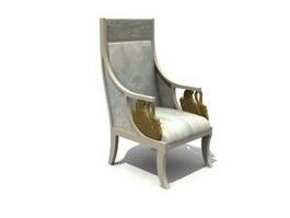 Antique Throne Chair 3d model