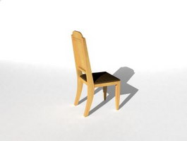 Small wooden chair 3d model
