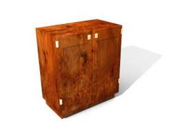 Antique cabinet for livingroom 3d model