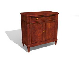 Antique Furniture Home storage locker 3d model