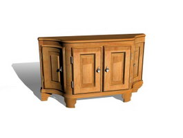 Antique Furniture Living Room Console Table 3d model